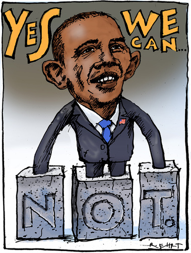 Cartoon: Obama (medium) by Rainer Ehrt tagged obama,voting,usa,demokraten,republikaner,wahlen,wahlversprechen,demokratie,präsident,white,house