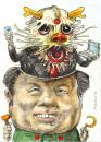 Cartoon: China-Dragon (small) by Rainer Ehrt tagged china,mao,globalisierung,drache