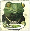 Cartoon: Gourmet (small) by Rainer Ehrt tagged gourmet,frosch,frog,animal,pleasure,enjoyment,taste