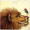 Cartoon: lion and kolibri (small) by Rainer Ehrt tagged lion,kolibri,violence,utopia,paradise,peace,vision