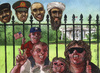Cartoon: White house killing fields (small) by Rainer Ehrt tagged obama,osama,bin,laden,usama,ladin,terror,war,afghanistan,pakistan,white,house,usa,navy,seals,killer,killing,murder,execution,irak,iraq,freedom,saddam,hussein,lybien,lybia,ghaddafi,ghaddafis,sons