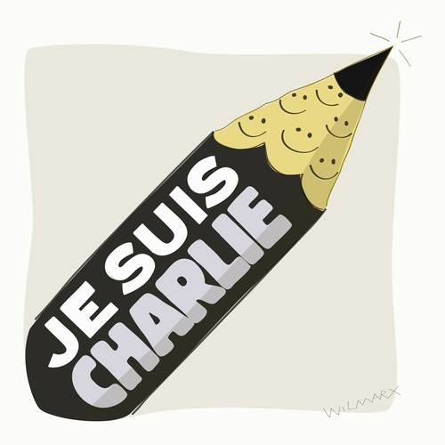 Cartoon: Je suis Charlie (medium) by Wilmarx tagged terrorism,communication,graphics,world,religion,smile,charlie,hebdo,humor