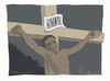 Cartoon: Cross bar code (small) by Wilmarx tagged barcode,poverty