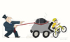 Cartoon: Autodog (small) by Wilmarx tagged transit car bike violence capitalism
