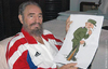 Cartoon: Drawing leaves outraged Fidel (small) by Wilmarx tagged world fidel castro