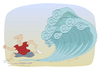Cartoon: Spam tsunami (small) by Wilmarx tagged internet,email,spam