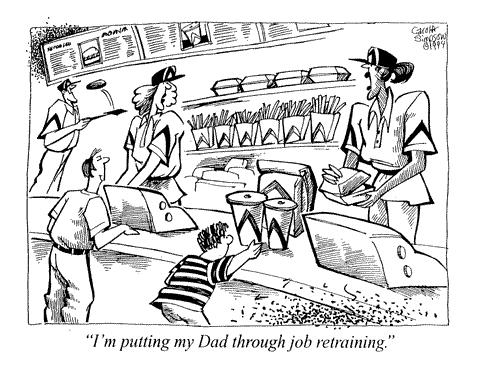 Cartoon: Father and Daughter (medium) by carol-simpson tagged jobs,retraining,daughters,labor
