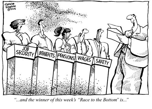a race to the bottom