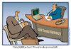 Cartoon: CEO Temporary Agencies (small) by carol-simpson tagged ceo business greed temporary workers