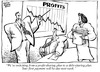 Cartoon: Shared Sacrifice (small) by carol-simpson tagged debt,workers,companies,economy,labor