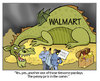 Cartoon: Walmart Payday (small) by carol-simpson tagged walmart,wages,poverty