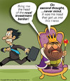 Cartoon: What royal treasury? (small) by carol-simpson tagged banking,crisis,stock,market,finance,royalty
