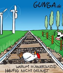 Cartoon: Hühnersuizid (medium) by Gunga tagged hühnersuizid