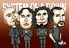 Cartoon: system of a down (small) by mitosdorock tagged rod,stewart