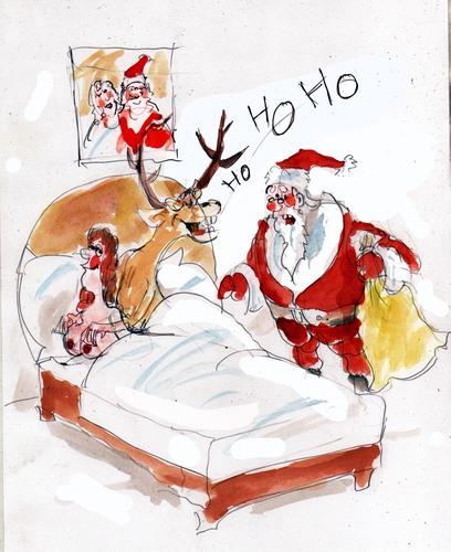 santa ho ho ho ho By Miro  Media & Culture Cartoon  TOONPOOL