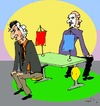 Cartoon: dialoque (small) by Miro tagged dialoque