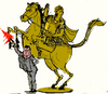 Cartoon: The statue of a warrion (small) by Miro tagged alexander,the,macedionian
