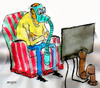 Cartoon: tv (small) by Miro tagged no,text