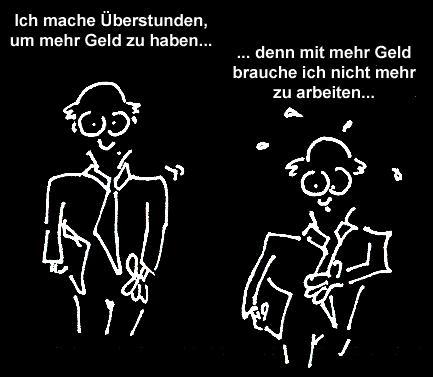 Cartoon sinn des lebens medium by newbridge tagged leben geld macht