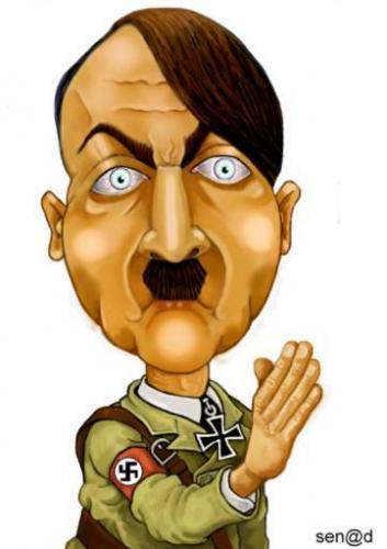 Hitler By Senad | Famous People Cartoon | TOONPOOL