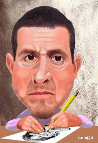 Sal navarro by senad famous people cartoon toonpool for Salvador navarro