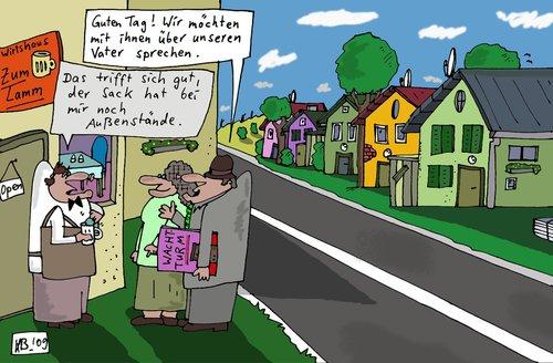 Jehovas Zeugen By Leichnam | Religion Cartoon | TOONPOOL