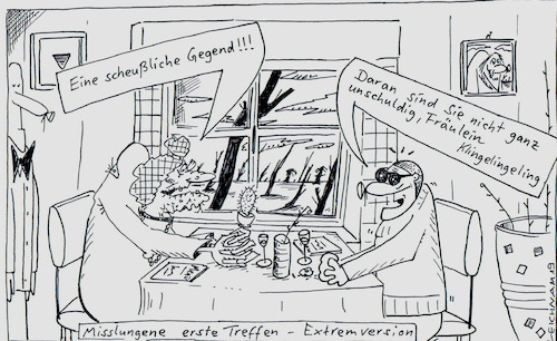 Cartoon: Liebelei (medium) by Leichnam tagged liebelei,einöde,treffen,date,misslungen,baumleichen,leichnam,leichnamcartoon,extremversion