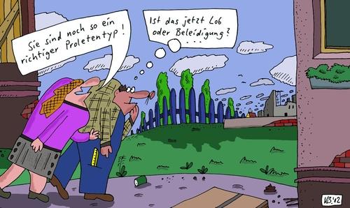 Lob oder  By Leichnam | Philosophy Cartoon | TOONPOOL