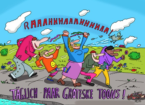 Cartoon: Raaa! (medium) by Leichnam tagged raaa,toons,täglich,grotesk