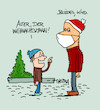 Cartoon: Weihnachtsmann (small) by Trantow tagged weihnachten,weihnachtsmann,kind,winter,maske,corona,pandemie,virus