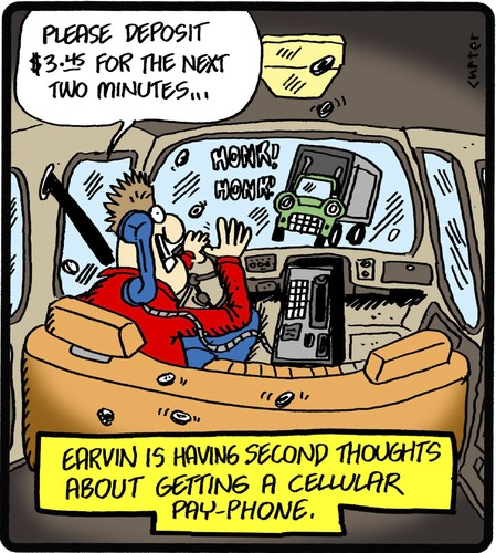 Cellular Payphone By Cartertoons Business Cartoon Toonpool