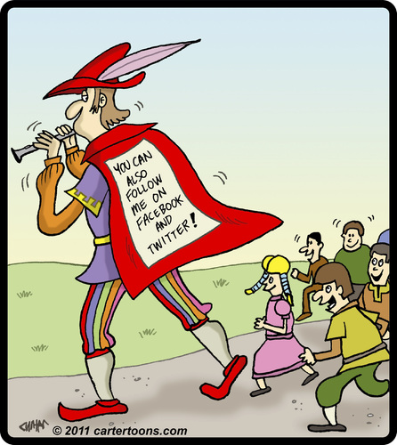 Cartoon: Pied Piper Followers (medium) by cartertoons tagged follow ...