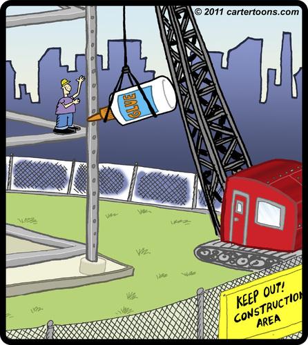 Building Construction Cartoon : Sticky construction by cartertoons business cartoon