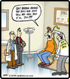 Cartoon: Bad Prognosis (small) by cartertoons tagged medical,prognosis,doctor,patient,exam