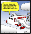 Cartoon: Broken Plane (small) by cartertoons tagged travel,transportation,airplanes,airport,air,accidents