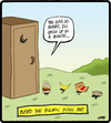Cartoon: Bulimic Ants (small) by cartertoons tagged ants,animals,food,eating,bulimia,barf,bathrooms