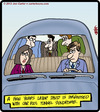 Cartoon: Carpool Tunnel Syndrome (small) by cartertoons tagged carpooling,carpal,tunnel,syndrome,coworkers,commutes
