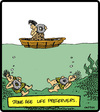 Cartoon: Caveman Floatie (small) by cartertoons tagged cavemen,prehistoric,rocks,life,preservers,water,drowning,swimming