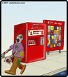 Cartoon: Deadbox Rentals (small) by cartertoons tagged redbox,dead,undead,zombie,dvd,rental