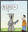 Cartoon: Death Status (small) by cartertoons tagged death,grim,reaper,smartphones,technology,facebook,apps,status