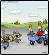 Cartoon: Dog Motorcycle (small) by cartertoons tagged dog,dogs,pet,pets,motorcycle,sidecar,road,chase,chasing,driving,bark,barking
