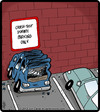 Cartoon: Dummy Parking (small) by cartertoons tagged crash,test,dummy,cars,autos,automobiles,travel,park,parking