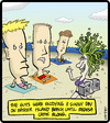 Cartoon: Easter Island Origin (small) by cartertoons tagged medusa,easter,island,beach,mythology
