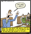 Cartoon: Exclamation Court (small) by cartertoons tagged court,lawyer,exclamation,point,objection,law,legal