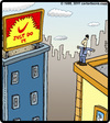 Cartoon: Just Do It. (small) by cartertoons tagged nike,nikey,suicide,buildings,billboard,city