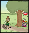Cartoon: Keebler ambush (small) by cartertoons tagged keebler,elves,girlscout,cookies,tree,ambush