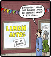 Cartoon: Lemon Autos (small) by cartertoons tagged cars,autos,automobiles,sales,business,fail,failure,lemons
