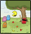 Cartoon: Pac Man pinata (small) by cartertoons tagged pacman,ghosts,pinata,games