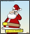 Cartoon: Santa Phone (small) by cartertoons tagged santa,claus,christmas,xmas,holidays,seasons,phones,communication,technology