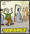 Cartoon: Senior Halloween Party (small) by cartertoons tagged halloween,party,death,seniors,grim,reaper,old